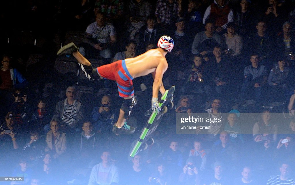 Boogie board rider at Nitro Circus Live at Manchester Arena on December 4, 2012 in Manchester, England.