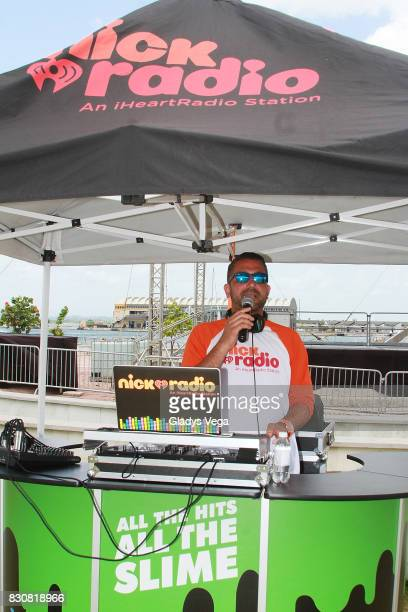 Boogie of Nick Radio participate in the Worldwide Day of Play at Bahia Urbana Bay Side Park on August 12 2017 in San Juan Puerto Rico