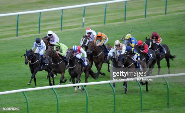 Boogie Shoes ridden by Neil Callan goes on to win the Arkle Finance Handicap Stakes during The Cambridgeshire Meeting at Newmarket Racecourse...