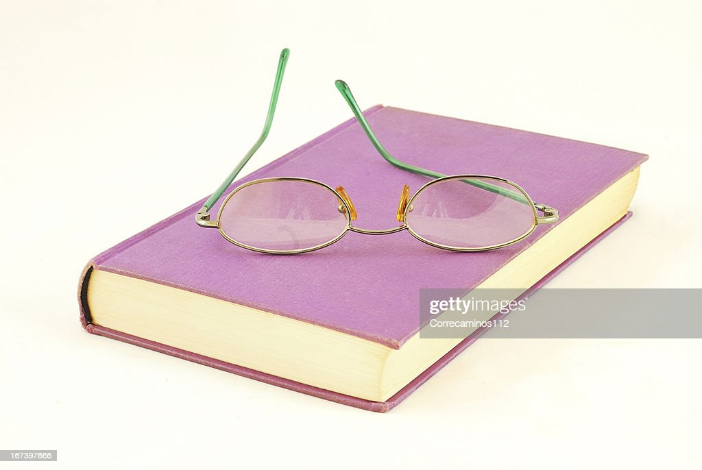 Book and glasses : Stock Photo