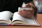 Book and smart Phone
