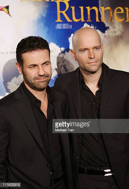 Book author Khaled Hosseini and director Marc Forster arrive at the Los Angeles Premiere of 'The Kite Runner' held at The Egyptian Theater on...