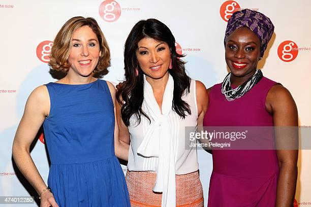 NYT book editor Pamela Paul journalist Juju Chang and author Chimamanda Ngozi Adichie attend the Girls Write Now Awards honoring Chimamanda Ngozi...
