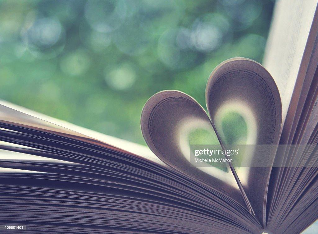 Book heart.. : Stock Photo