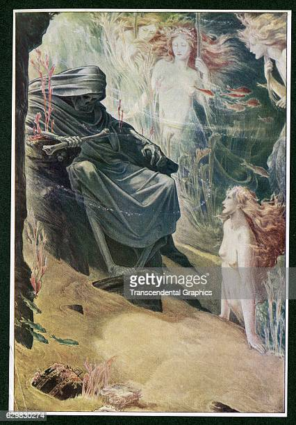 Book illustration for Shakespeare's 'The Tempest' London England 1908
