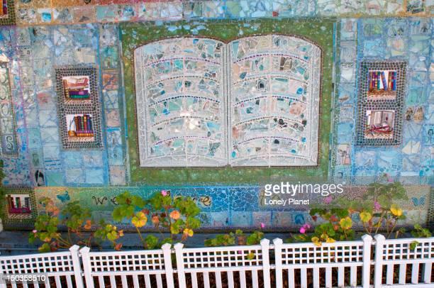 Book mosaic at Harvey Milk Civil Right Academy.