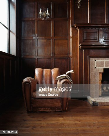 Book on a leather armchair