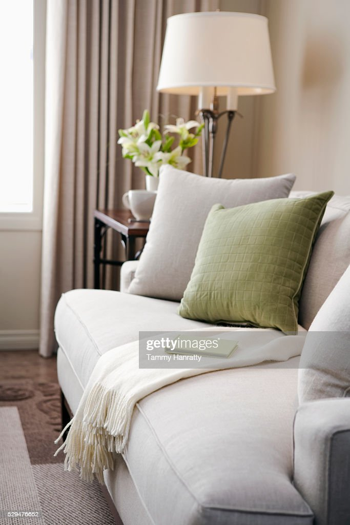 Book on a sofa : Stock Photo