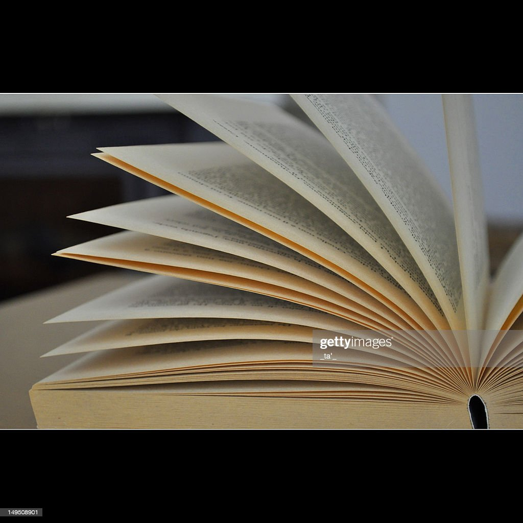 Book pages open : Stock Photo