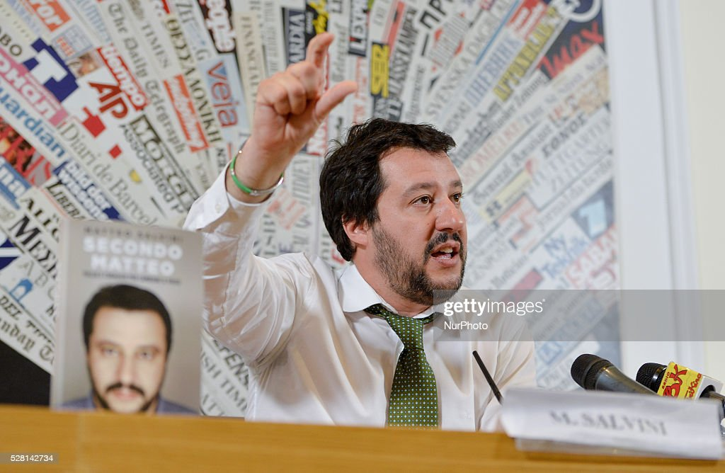 Book presentation autobiographical Matteo Salvini, Foreign Press Office in Rome , on may 04, 2016