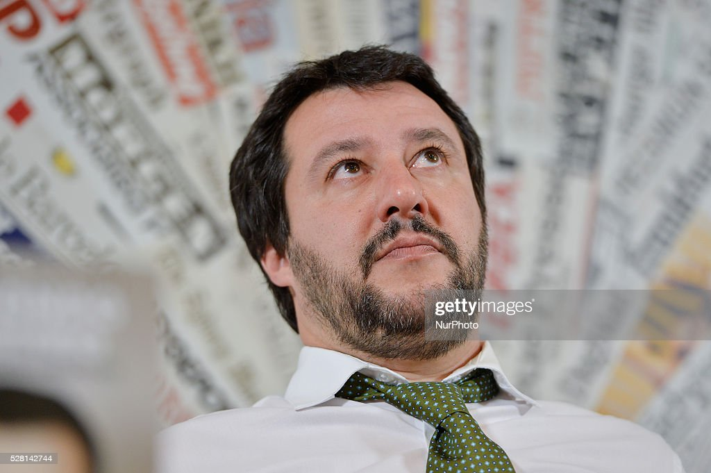 Book presentation autobiographical <a gi-track='captionPersonalityLinkClicked' href=/galleries/search?phrase=Matteo+Salvini&family=editorial&specificpeople=2325195 ng-click='$event.stopPropagation()'>Matteo Salvini</a>, Foreign Press Office in Rome , on may 04, 2016