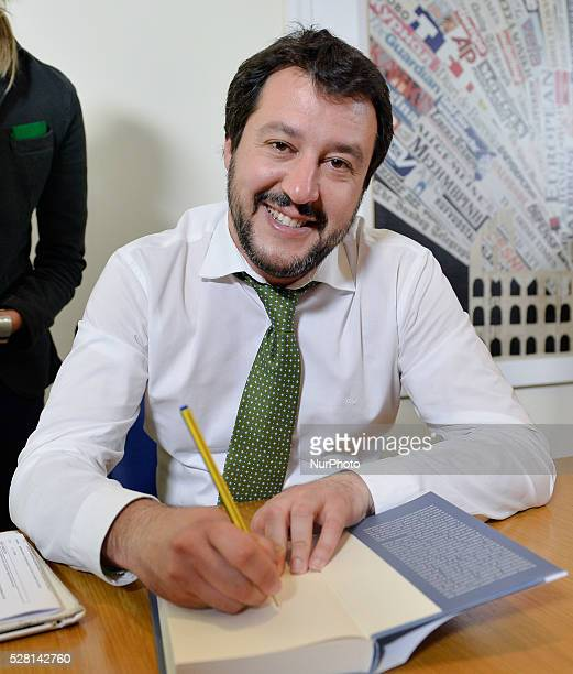 Book presentation autobiographical Matteo Salvini Foreign Press Office in Rome on may 04 2016