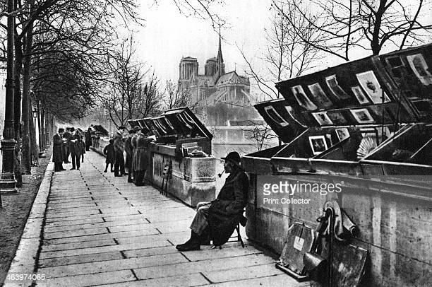 Book stalls along the quays Paris 1931 Illustration from the book Paris published by Ernest Flammarion