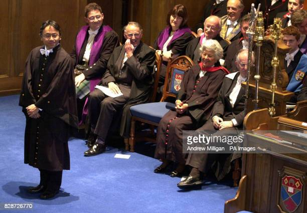 Booker Prizewinning author Kazuo Ishiguro receiving his honorary degree from St Andrews University