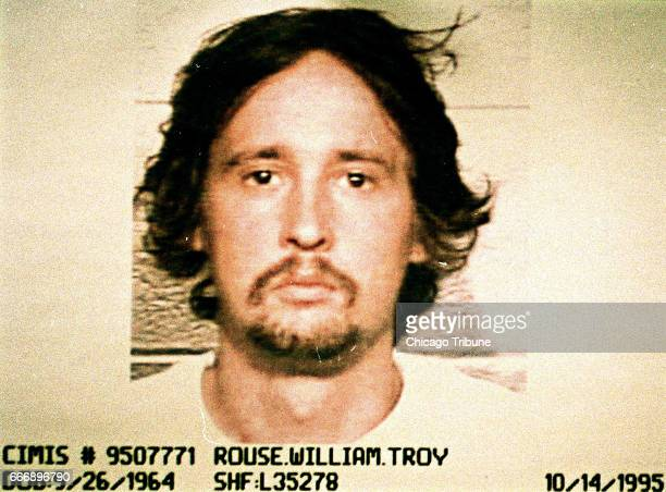 Booking photo of William Rouse on Oct 14 1995 Rouse confessed to killing his parents on June 5 1980