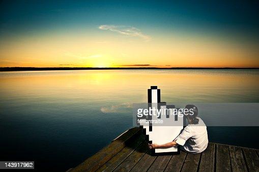 Buchen Urlaub online : Stock-Foto