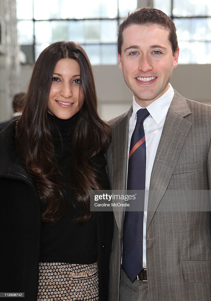 Bookmaker <a gi-track='captionPersonalityLinkClicked' href=/galleries/search?phrase=Tom+Waterhouse&family=editorial&specificpeople=216592 ng-click='$event.stopPropagation()'>Tom Waterhouse</a> and his fiancee Hoda Vakili arrive at the Zimmerman catwalk show during Rosemount Australian Fashion Week Spring/Summer 2011/12 at The Classic Throttle Shop on May 2, 2011 in Sydney, Australia.