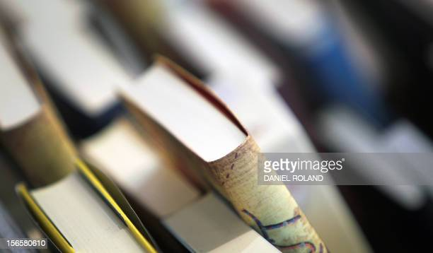 Books are seen at the 63rd Frankfurt Book Fair October 12 2011 in Frankfurt/M western Germany This year's edition of the largest book fair in the...