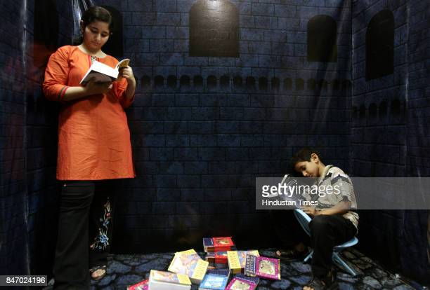 Books Aysha and Amin Kazi read Harry Potter on the eve of the launch of the seventh book in the Hogwarts Castle at Landmark Bookstore on Friday