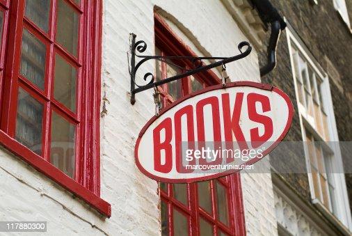 Books: Bookstore sign - English language