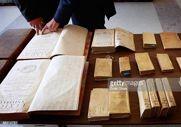 Books found among the approximately 1600 artifacts which the Federal Bureau of Investigation says were stolen from the Italian government by...