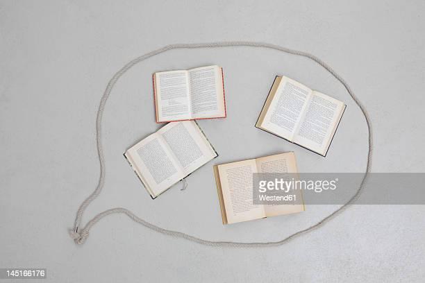 Books in speech bubble