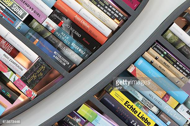 Books of German publisher Ullstein are pictured at the Frankfurt Book Fair in Frankfurt/Main Germany on October 19 2016 / AFP / AMELIE QUERFURTH