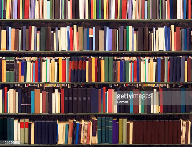 Books on a library