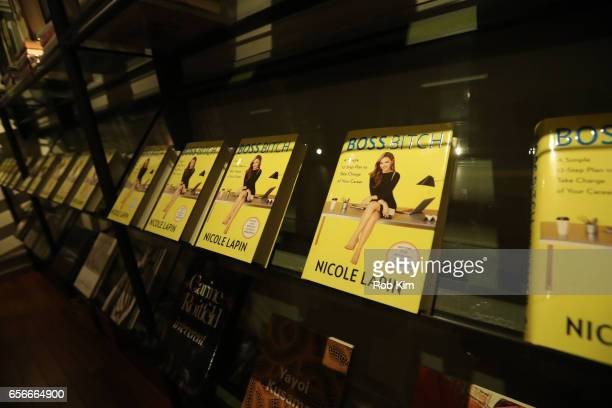 Books on display at the Female Bosses celebration and BOSS BITCH book launch and interactive panel event at The Core Club on March 22 2017 in New...