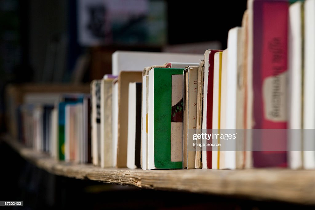 Books on shelf : Stock Photo