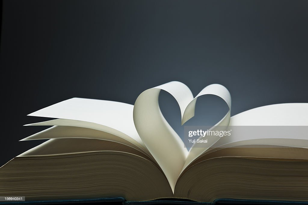 book?s paper  forming hart : Stock Photo