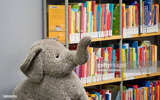 A bookshelf is seen during the presentation of Project 'Lesestart' in a Libary for Children on November 15 2013 in Berlin Germany The Project offers...