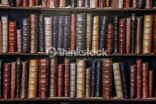 Bookshelf Wallpaper Stock Photo