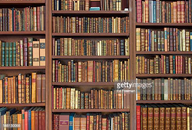 Bookshelves Full of Rare Books