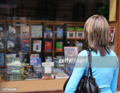 Bookstore display.