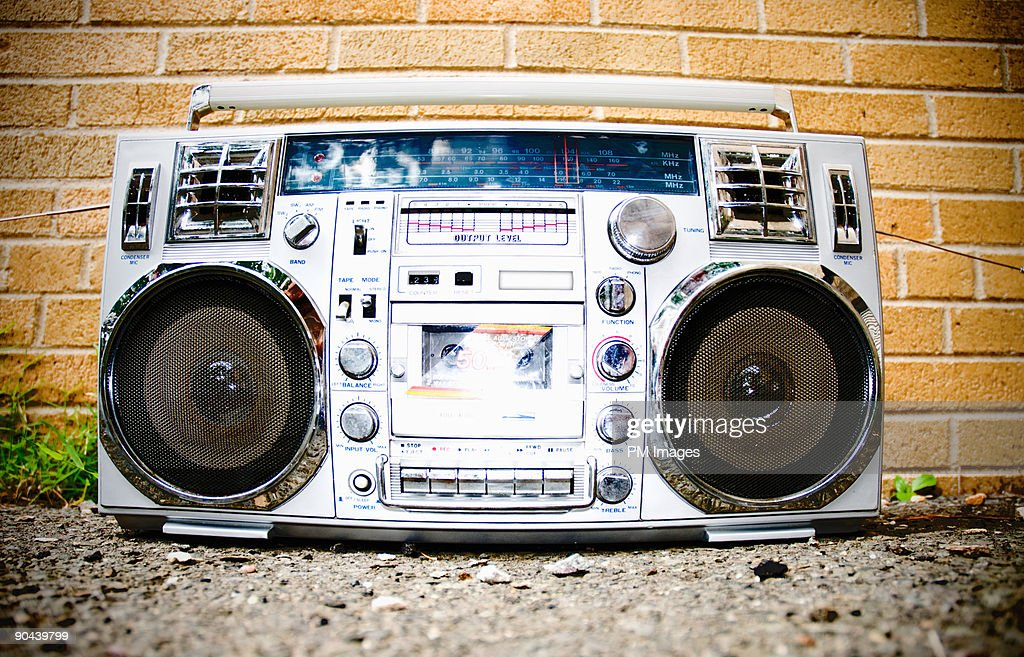 Boom Box in School Yard : Stock Photo