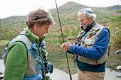 Boomer Couple Fly Fishing