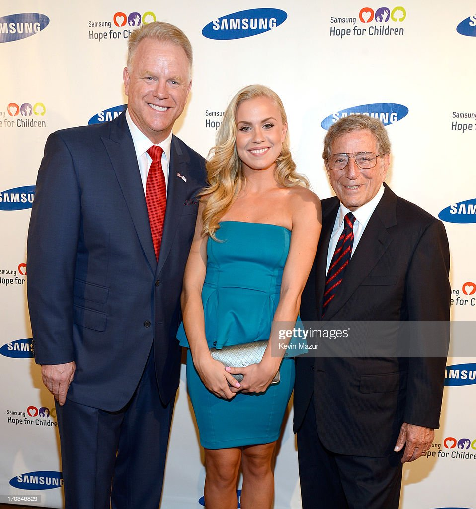 Boomer Esiason and Tony Bennett attend the Samsung's Annual Hope for Children Gala at CiprianiÕs in Wall Street on June 11, 2013 in New York City.