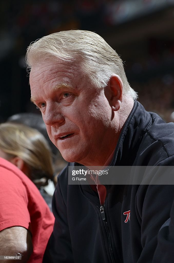 <a gi-track='captionPersonalityLinkClicked' href=/galleries/search?phrase=Boomer+Esiason&family=editorial&specificpeople=233805 ng-click='$event.stopPropagation()'>Boomer Esiason</a> watches the game between the Maryland Terrapins and the Duke Blue Devils at the Comcast Center on February 16, 2013 in College Park, Maryland.
