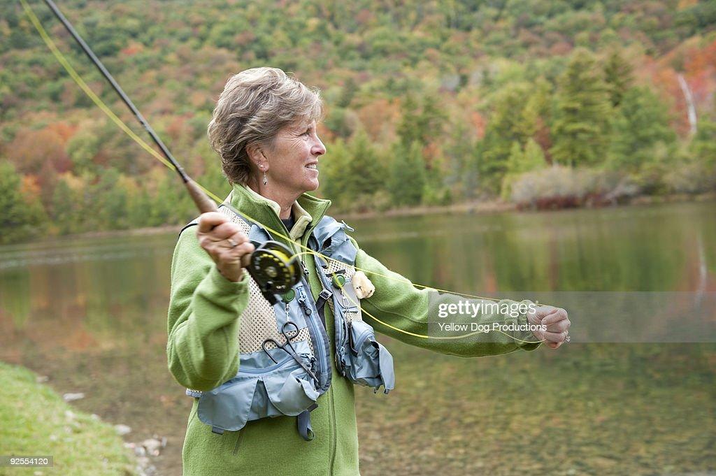 Boomer Woman Fly Fishing