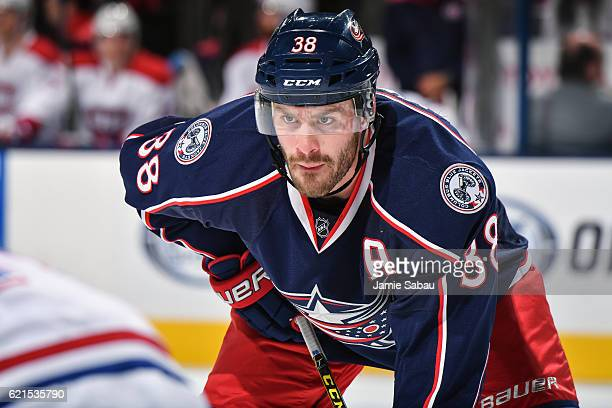 Boone Jenner of the Columbus Blue Jackets skates against the Montreal Canadiens on November 4 2016 at Nationwide Arena in Columbus Ohio Columbus shut...