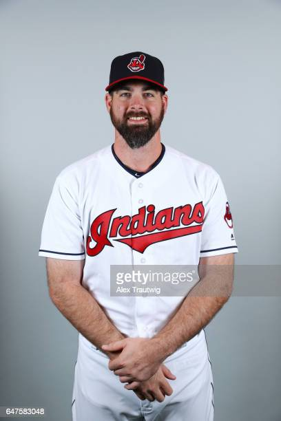 Boone Logan of the Cleveland Indians poses during Photo Day on Friday February 24 2017 at Goodyear Ballpark in Goodyear Arizona
