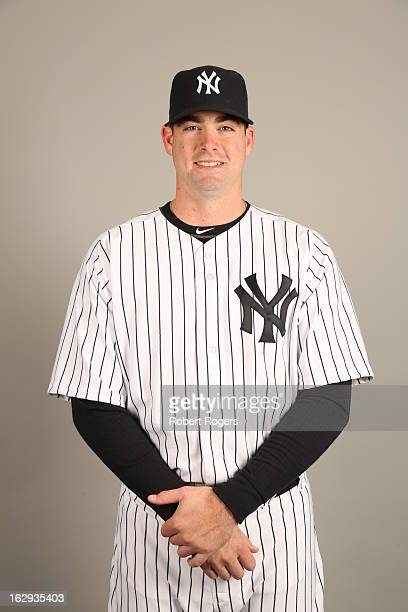 Boone Logan of the New York Yankees poses during Photo Day on February 20 2013 at George M Steinbrenner Field in Tampa Florida