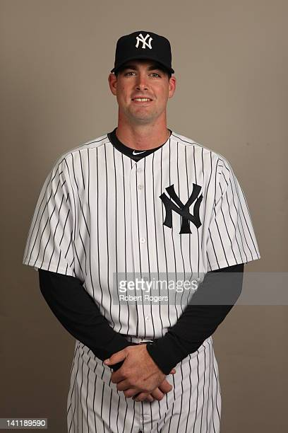 Boone Logan of the New York Yankees poses during Photo Day on Monday February 27 2012 at George M Steinbrenner Field in Tampa Florida