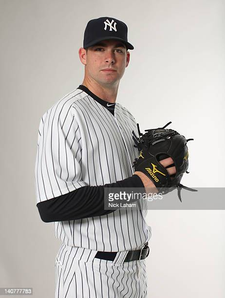 Boone Logan of the New York Yankees poses for a portrait during the New York Yankees Photo Day on February 27 2012 in Tampa Florida