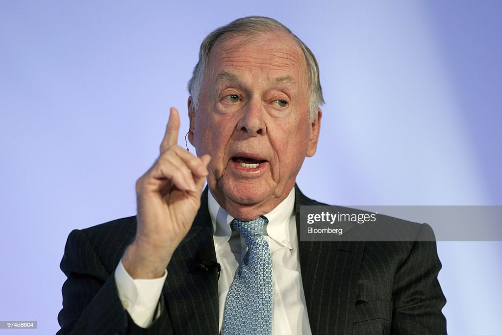 T. Boone Pickens, the billionaire energy investor and founder and chairman of BP Capital LLC, speaks at the
