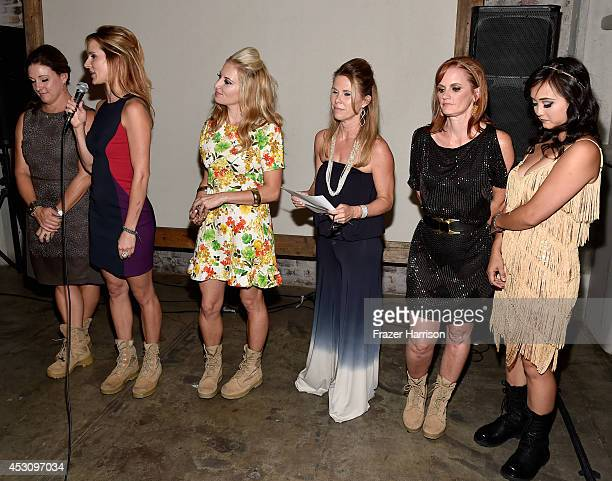 Boot Campaign's Leigh Ann Renslem Meghan McDermott Heather Sholl Sherri Reuland Ginger Giles and Maria Bui speak during Cast of FX's 'Sons of...
