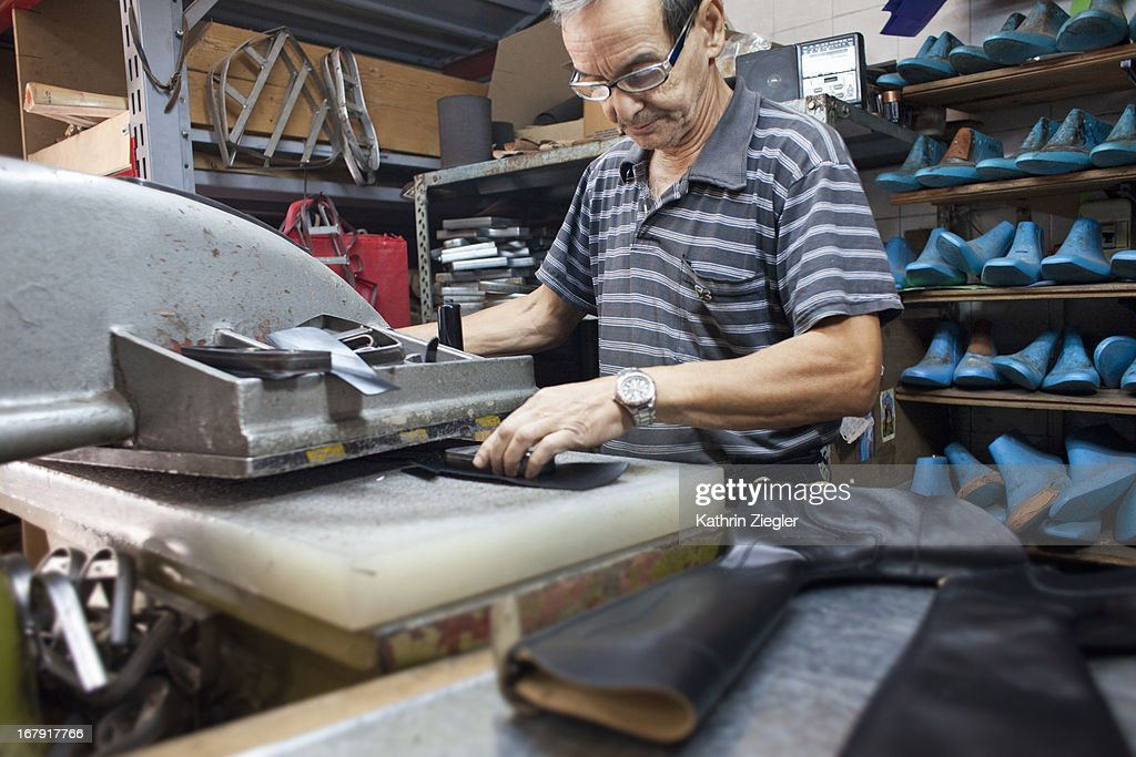 boot maker at work