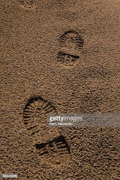 Boot Prints in Fine Sand