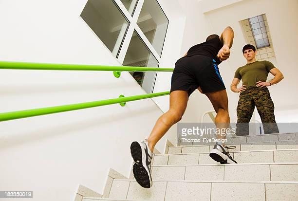 Bootcamp Fitness Trainee Running Stairs